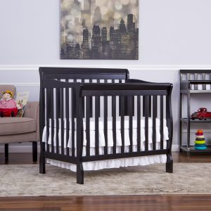 Dream-On-Me-3-in-1-Aden-Convertible-Mini-Crib-Black
