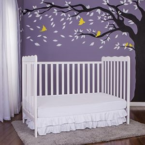 Dream-On-Me-Classic-3-in-1-Convertible-Stationary-Side-Crib-White